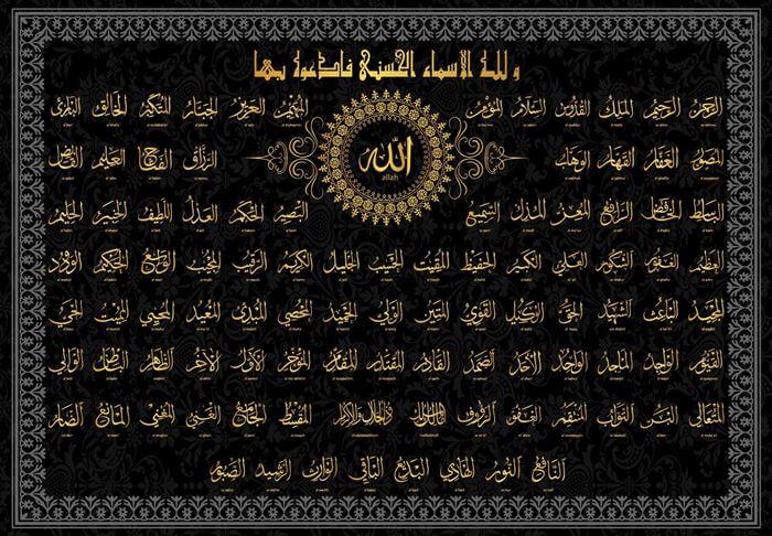 Allahın 99 ismini sıralama