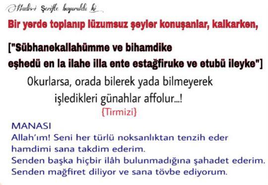 Türkçe sohbete başlama duası