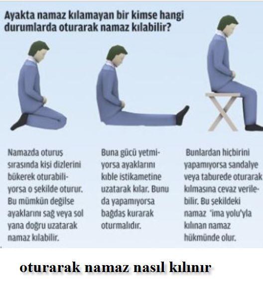 Diz üstü oturarak, ayakları uzatarak veya sandalyede namaz nasıl kılınır?