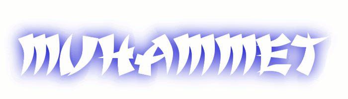 Muhammet isminin şekilli yazılması